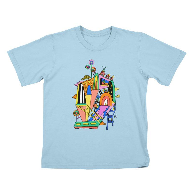 Lollipop Train Kids T-Shirt by Shelby Works