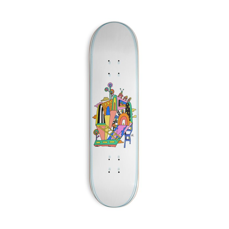 Lollipop Train Accessories Deck Only Skateboard by Shelby Works