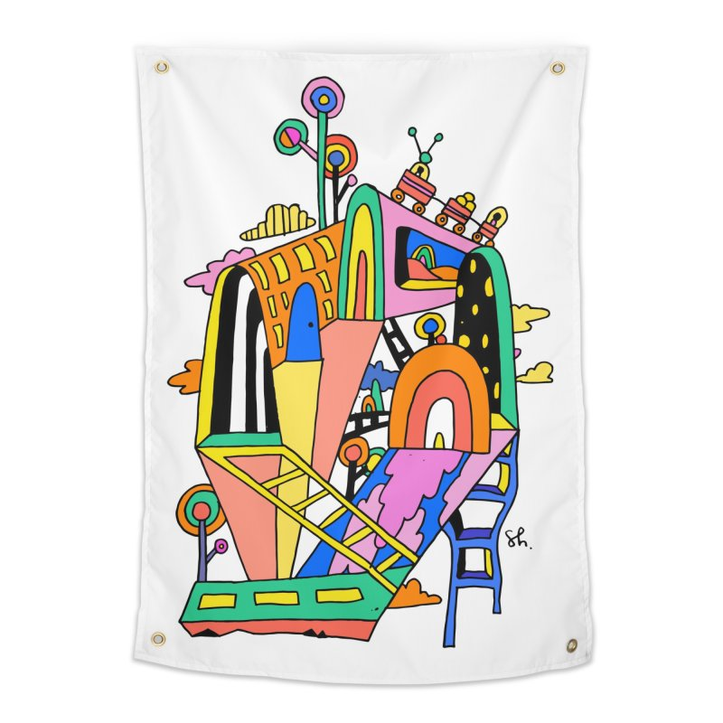 Lollipop Train Home Tapestry by Shelby Works