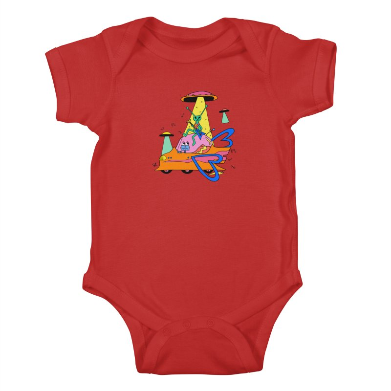 Alien's Can Rock Too Kids Baby Bodysuit by Shelby Works