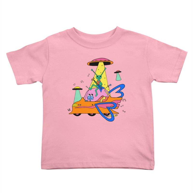 Alien's Can Rock Too Kids Toddler T-Shirt by Shelby Works