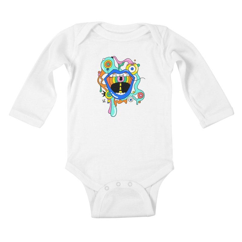 Chomp Chomp Kids Baby Longsleeve Bodysuit by Shelby Works