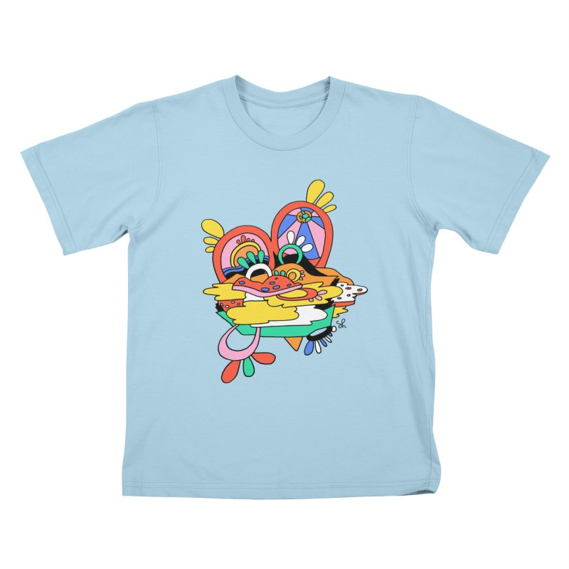 Something Abstract Kids T-Shirt by Shelby Works