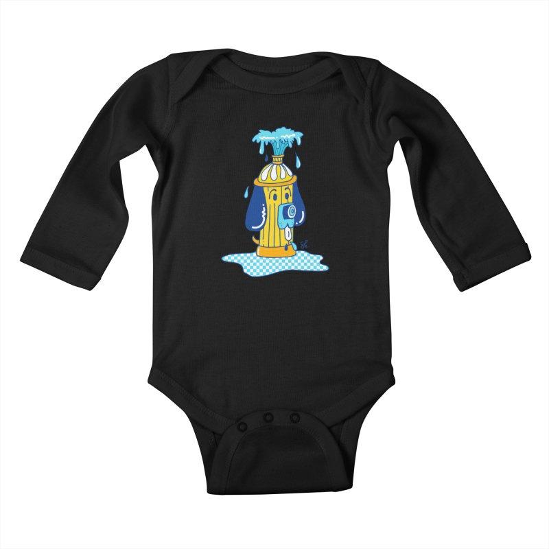 Woof Woof Kids Baby Longsleeve Bodysuit by Shelby Works