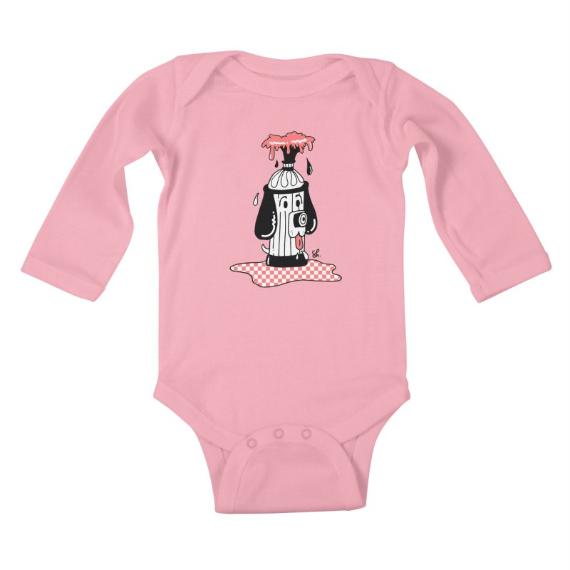 A Dog's Day Dream Kids Baby Longsleeve Bodysuit by Shelby Works
