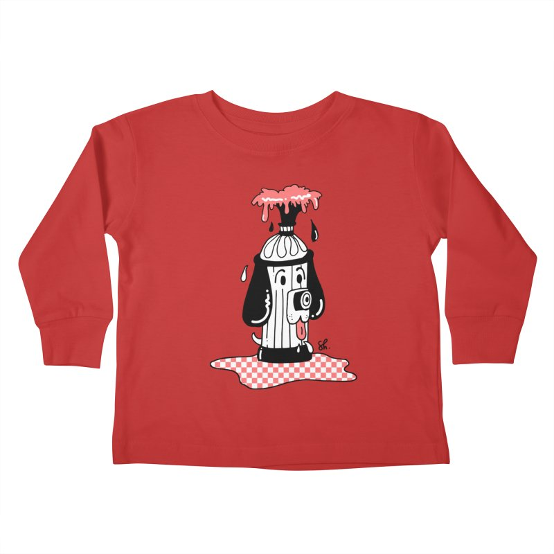 A Dog's Day Dream Kids Toddler Longsleeve T-Shirt by Shelby Works