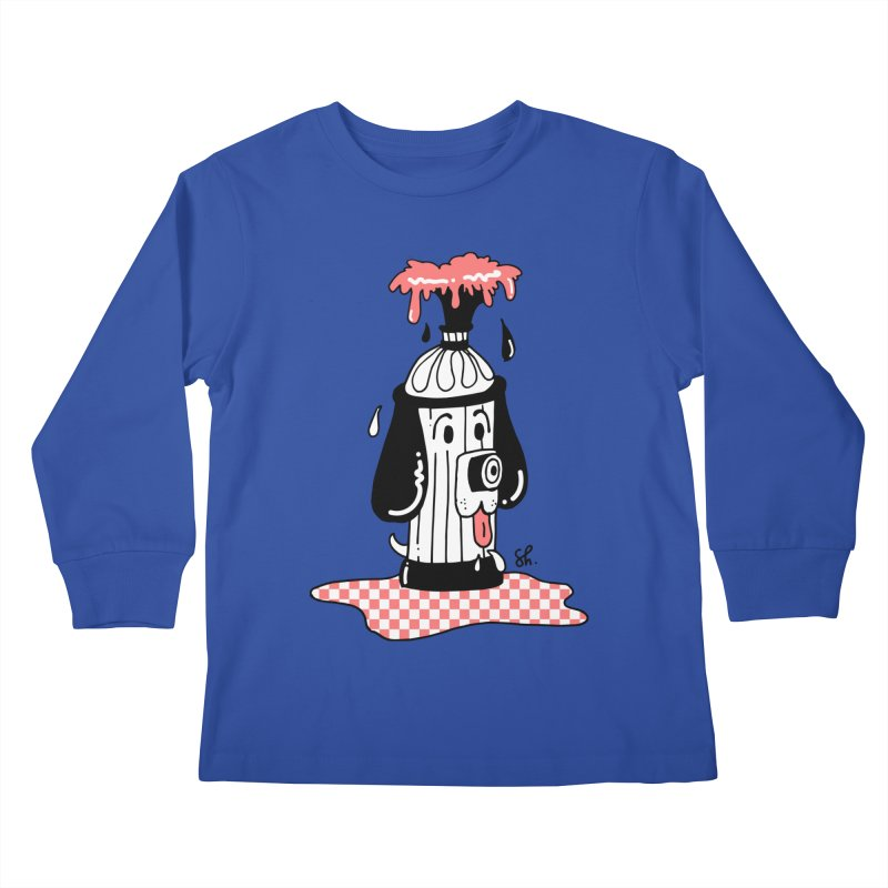 A Dog's Day Dream Kids Longsleeve T-Shirt by Shelby Works