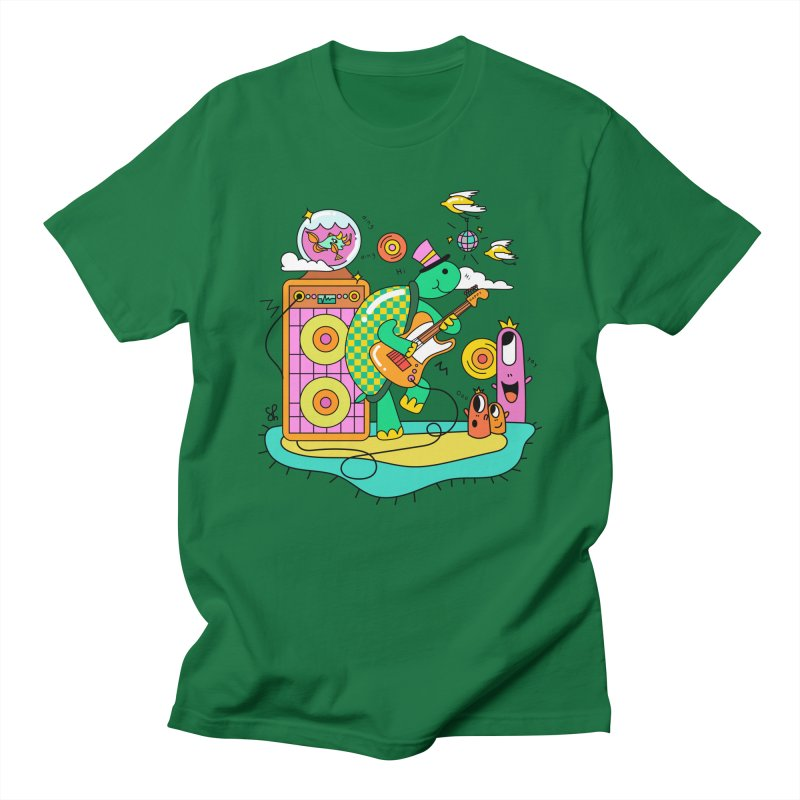 Happy Turtle & Angry Fish Meet Again Men's T-Shirt by Shelby Works