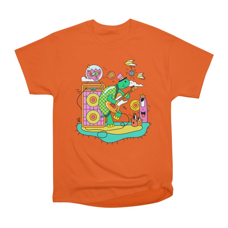 Happy Turtle & Angry Fish Meet Again Men's Heavyweight T-Shirt by Shelby Works