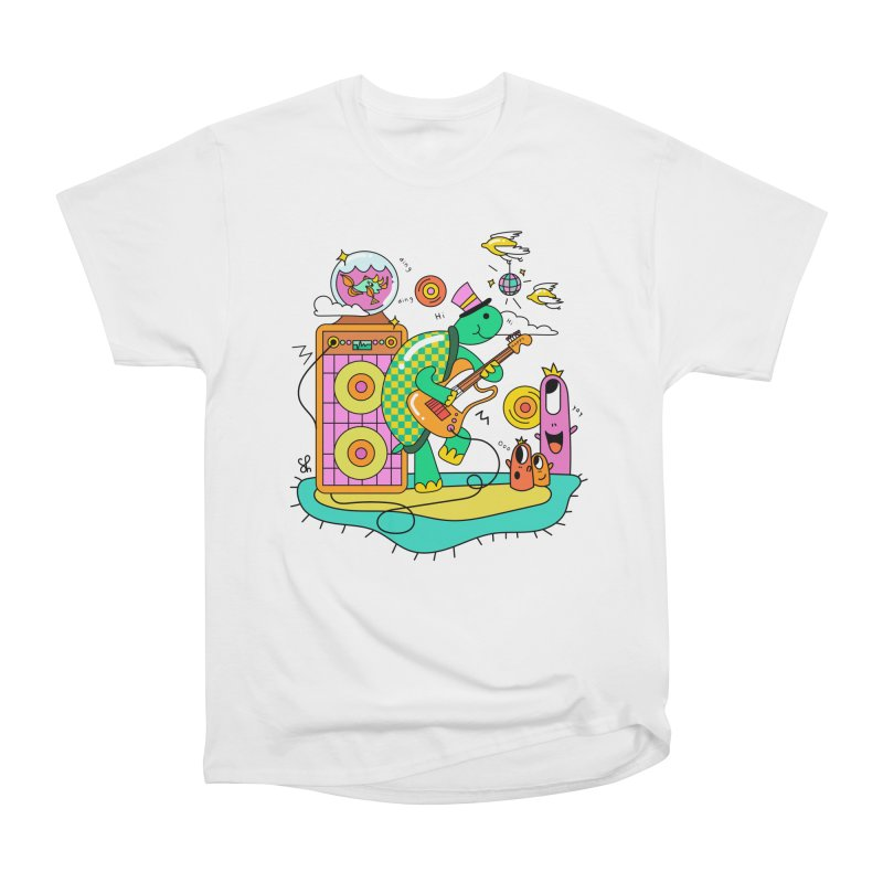 Happy Turtle & Angry Fish Meet Again Women's Heavyweight Unisex T-Shirt by Shelby Works
