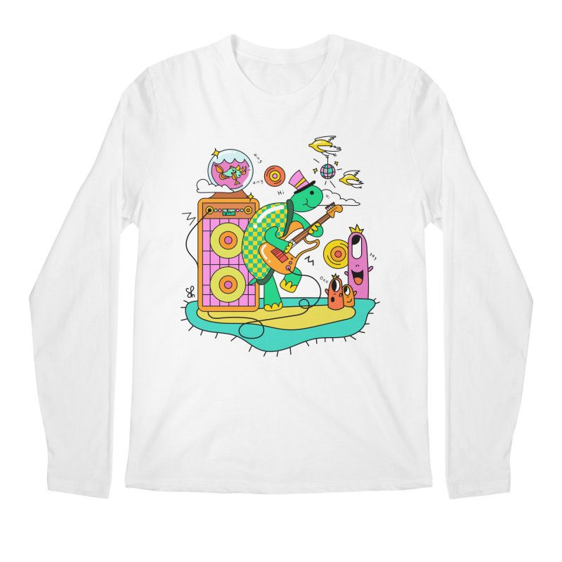 Happy Turtle & Angry Fish Meet Again Men's Regular Longsleeve T-Shirt by Shelby Works