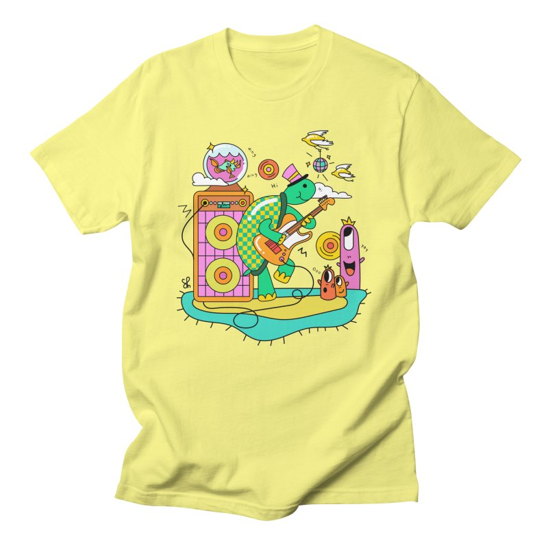 Happy Turtle & Angry Fish Meet Again Women's Regular Unisex T-Shirt by Shelby Works