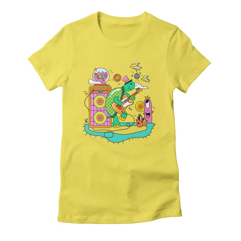 Happy Turtle & Angry Fish Meet Again Women's Fitted T-Shirt by Shelby Works