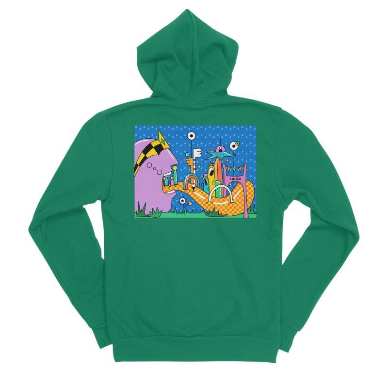 Croquet Day Men's Sponge Fleece Zip-Up Hoody by Shelby Works