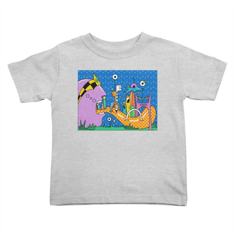 Croquet Day Kids Toddler T-Shirt by Shelby Works