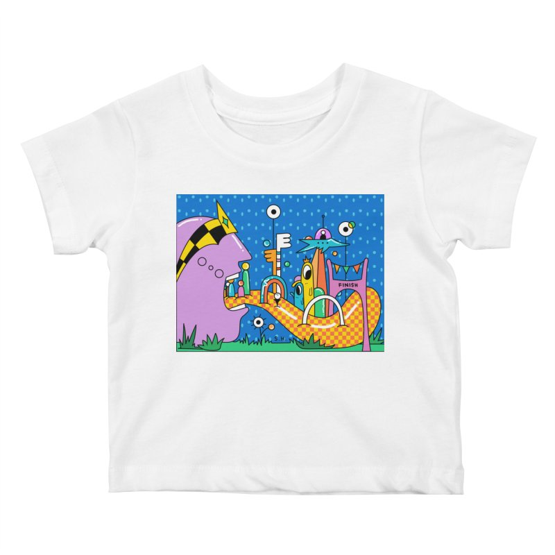 Croquet Day Kids Baby T-Shirt by Shelby Works