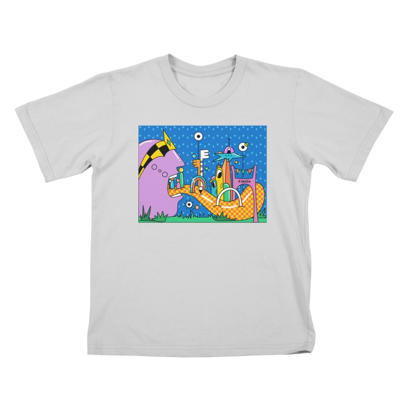 Croquet Day Kids T-Shirt by Shelby Works