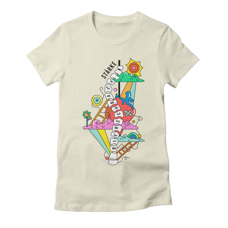 Winding Path Women's Fitted T-Shirt by Shelby Works