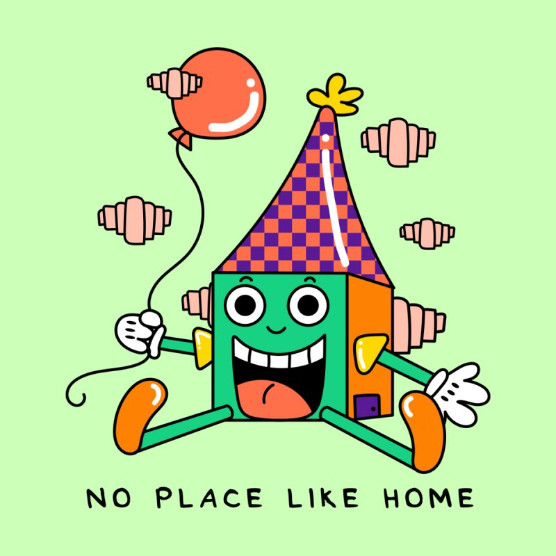 No Place Like Home Men's T-Shirt by Shelby Works
