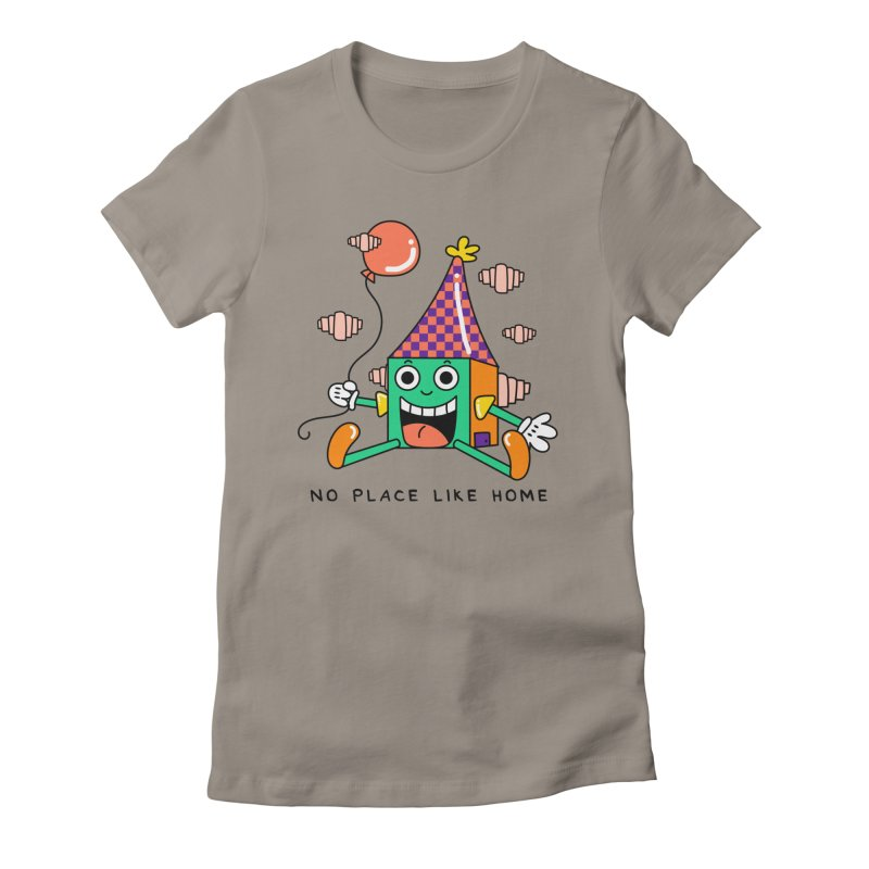 No Place Like Home Women's Fitted T-Shirt by Shelby Works