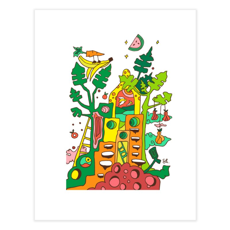 Produce Home Home Fine Art Print by Shelby Works
