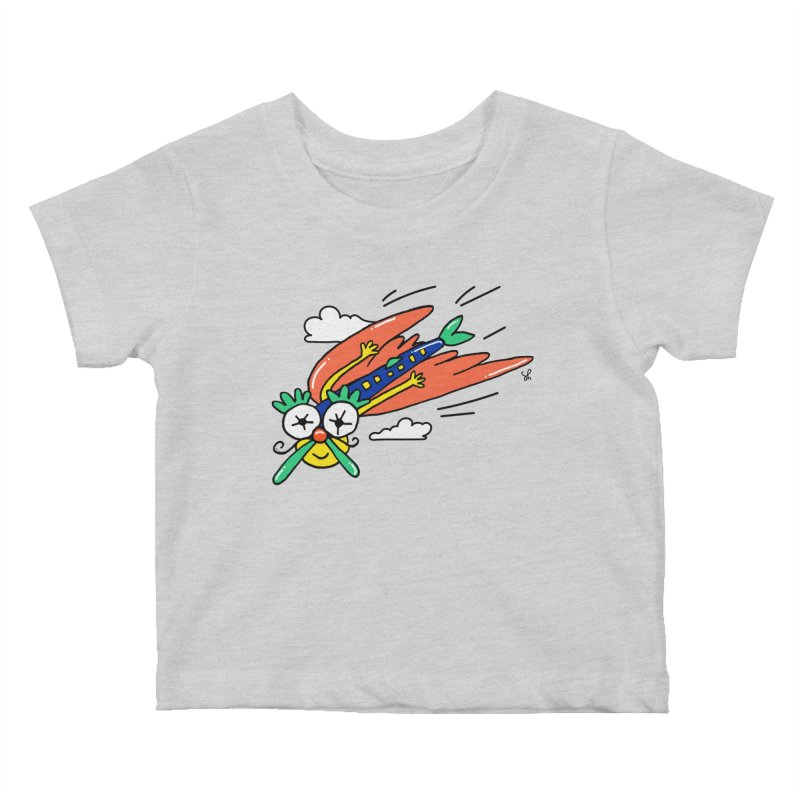 Marvin Airlines Kids Baby T-Shirt by Shelby Works