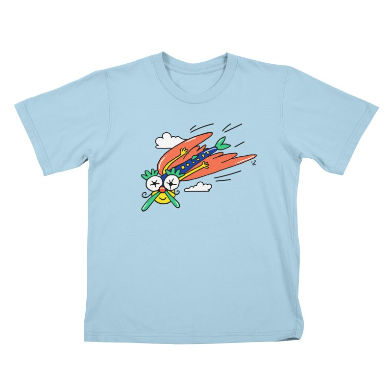 Marvin Airlines Kids T-Shirt by Shelby Works