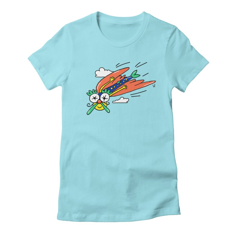 Marvin Airlines Women's Fitted T-Shirt by Shelby Works