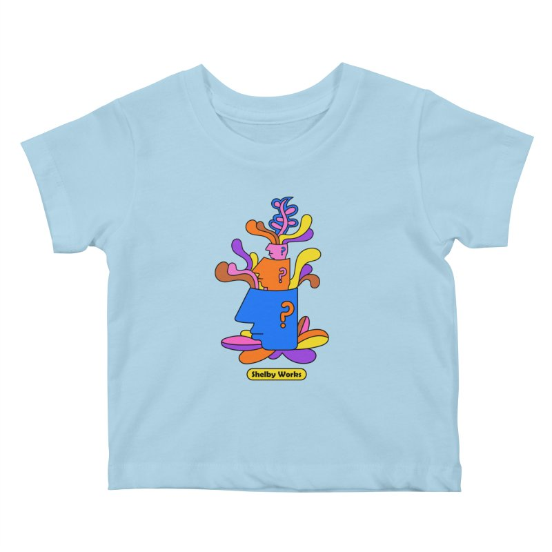 House Plant Kids Baby T-Shirt by Shelby Works