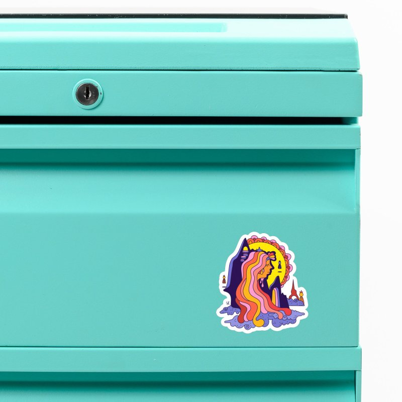 Girl in the Mountain Accessories Magnet by Shelby Works