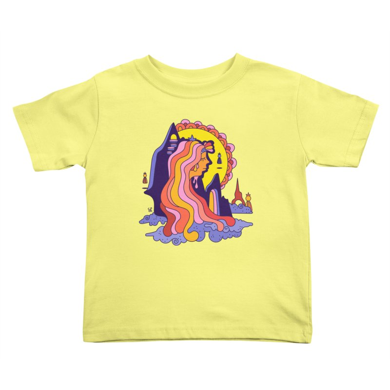Girl in the Mountain Kids Toddler T-Shirt by Shelby Works