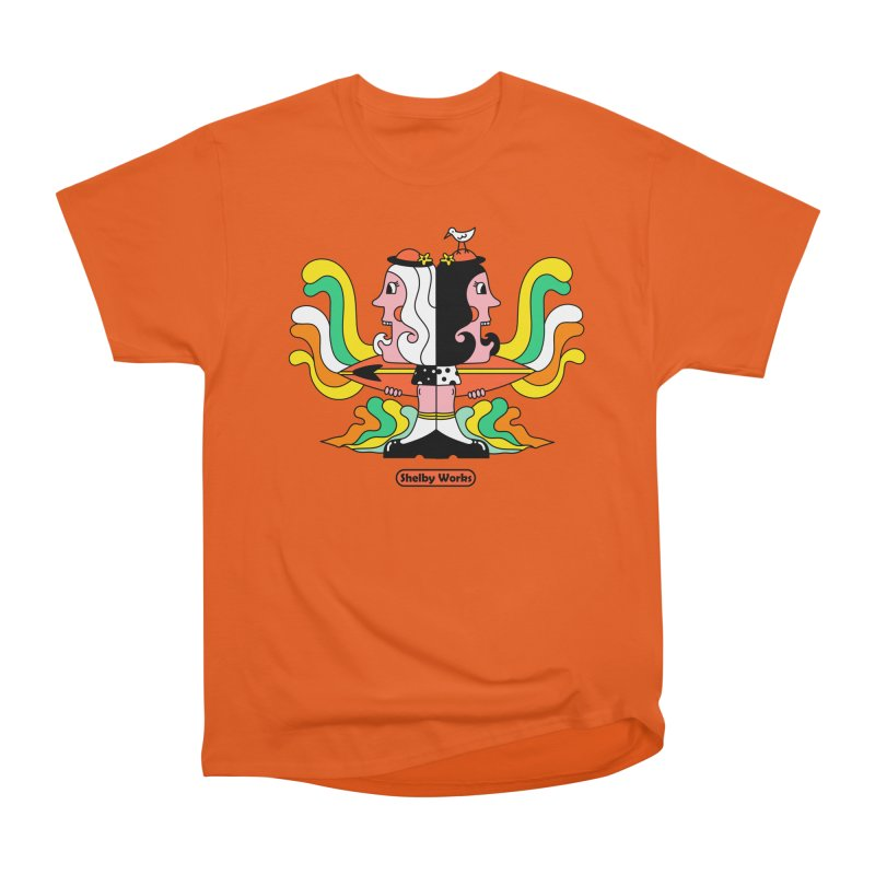 Molly & Dora Go Surfing Men's Heavyweight T-Shirt by Shelby Works