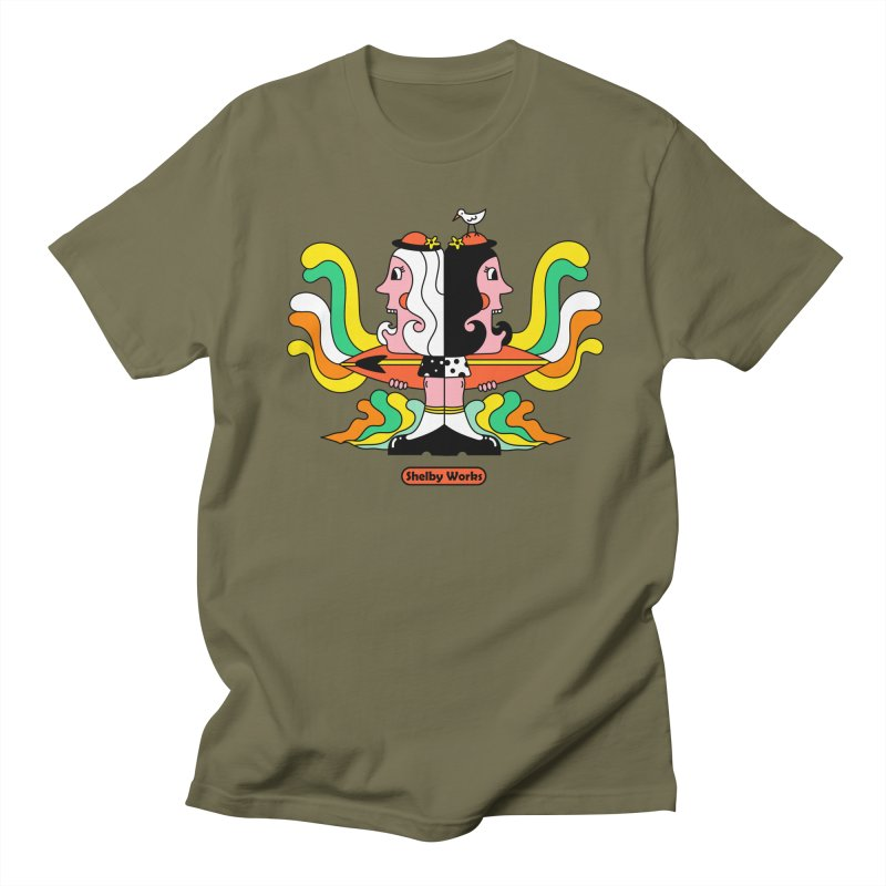 Molly & Dora Go Surfing Women's Regular Unisex T-Shirt by Shelby Works