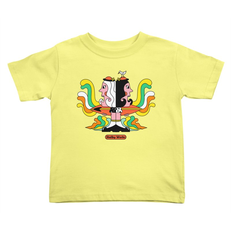 Molly & Dora Go Surfing Kids Toddler T-Shirt by Shelby Works