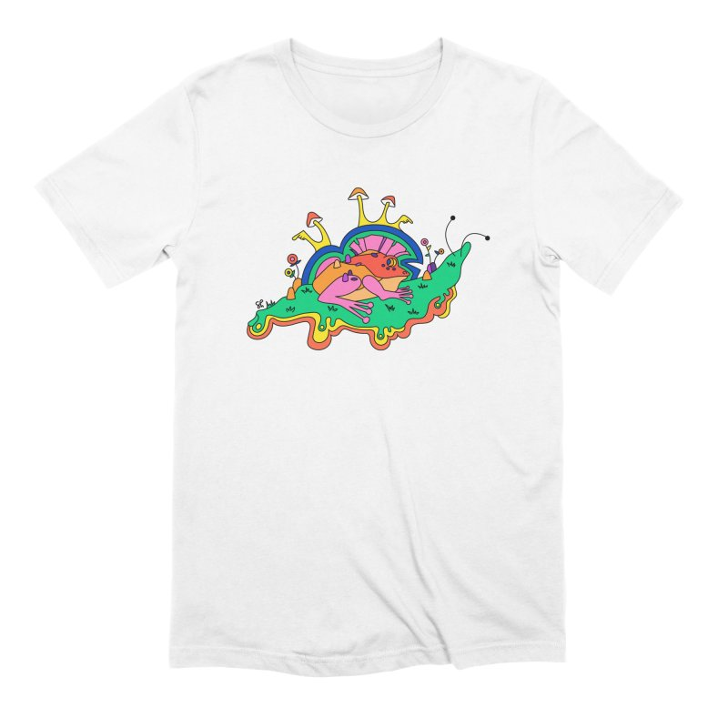 Frog With a Mohawk Men's Extra Soft T-Shirt by Shelby Works