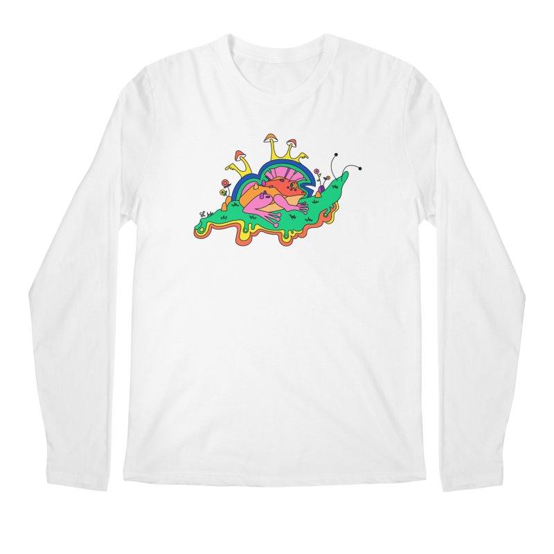 Frog With a Mohawk Men's Regular Longsleeve T-Shirt by Shelby Works