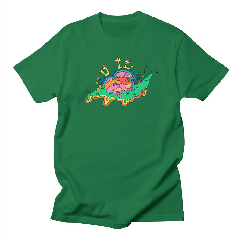 Frog With a Mohawk Men's Regular T-Shirt by Shelby Works