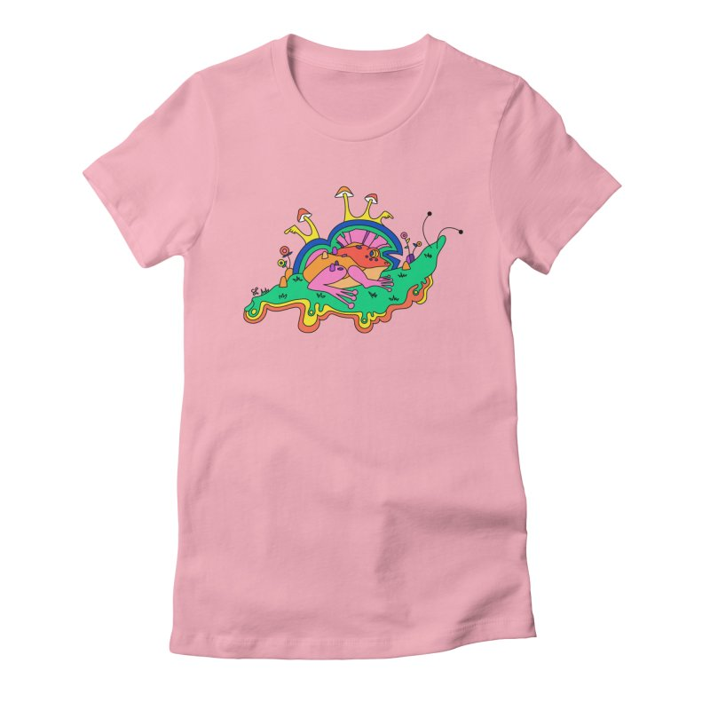 Frog With a Mohawk Women's Fitted T-Shirt by Shelby Works
