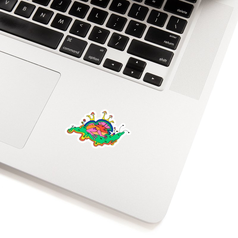 Frog With a Mohawk Accessories Sticker by Shelby Works