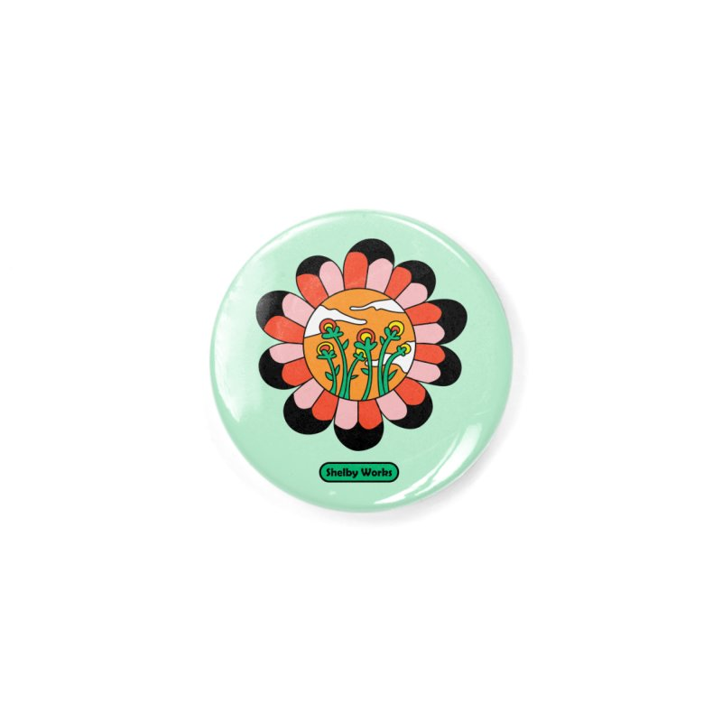 Flower Power Accessories Button by Shelby Works