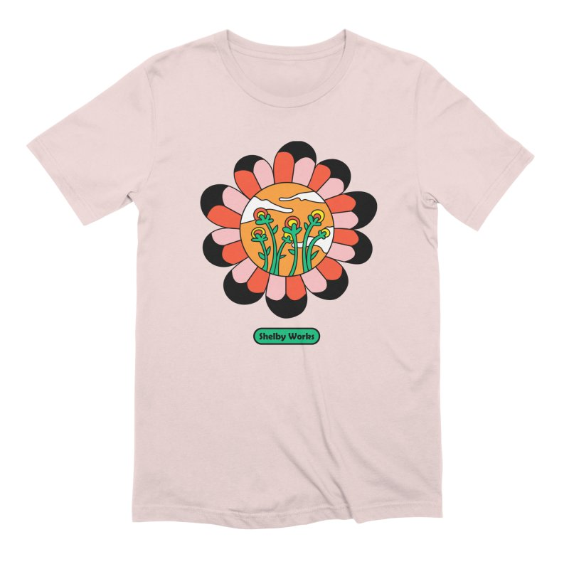 Flower Power Men's Extra Soft T-Shirt by Shelby Works