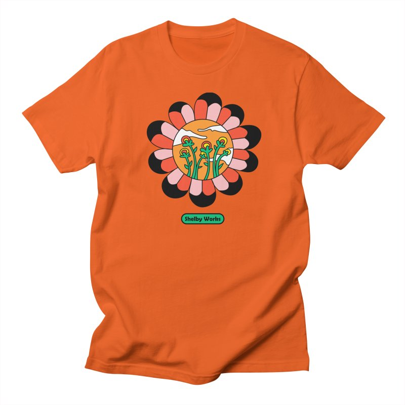 Flower Power Men's Regular T-Shirt by Shelby Works