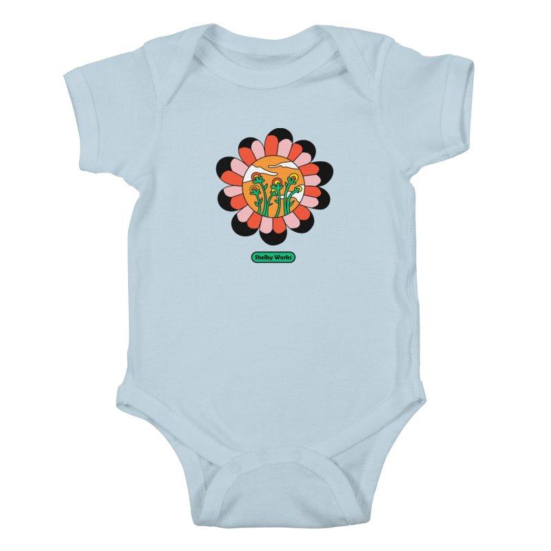 Flower Power Kids Baby Bodysuit by Shelby Works