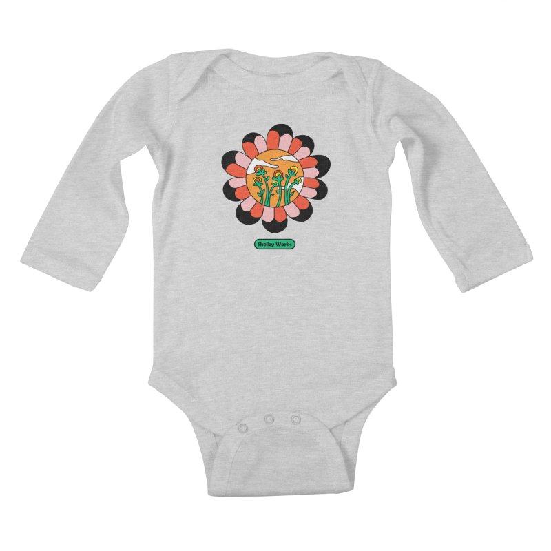 Flower Power Kids Baby Longsleeve Bodysuit by Shelby Works