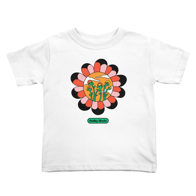 Flower Power Kids Toddler T-Shirt by Shelby Works