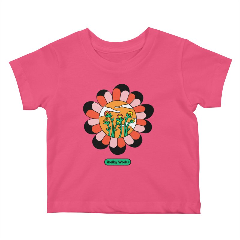 Flower Power Kids Baby T-Shirt by Shelby Works