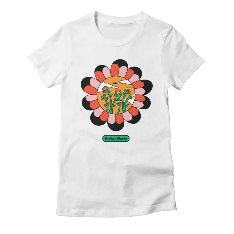 Flower Power Women's Fitted T-Shirt by Shelby Works