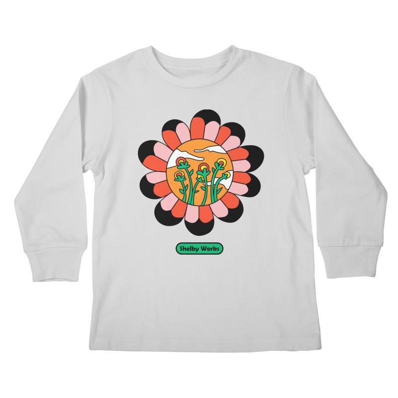 Flower Power Kids Longsleeve T-Shirt by Shelby Works