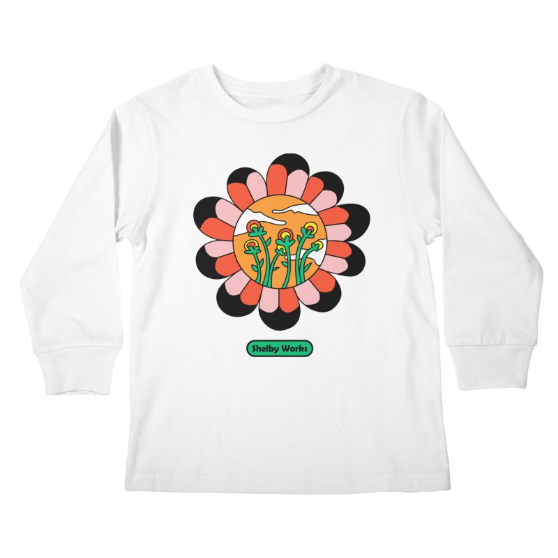 Flower Power Kids Longsleeve T-Shirt by Shelby Works