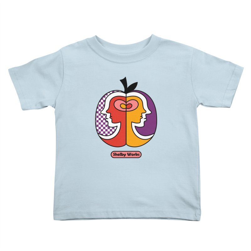 Apple Heads Kids Toddler T-Shirt by Shelby Works